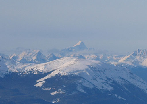 Telephoto of Mount Robson