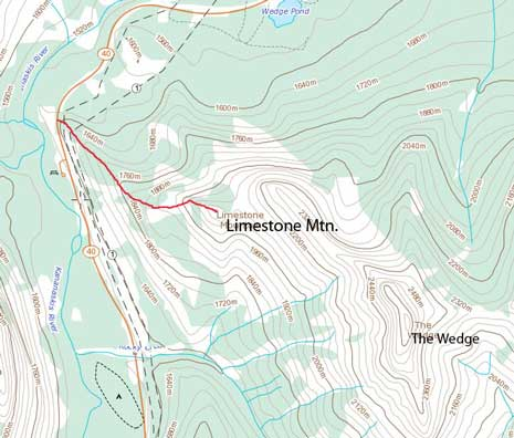 Limestone Mountain scramble route
