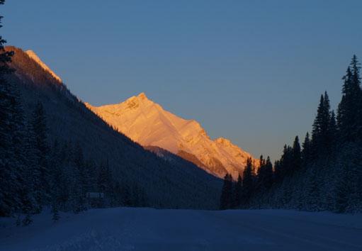 Morning glow from Smith-Dorrien road