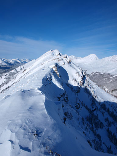 The ridge starts to get narrower