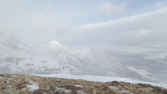 Elliot Peak and Mt. Ernest Ross showed up briefly