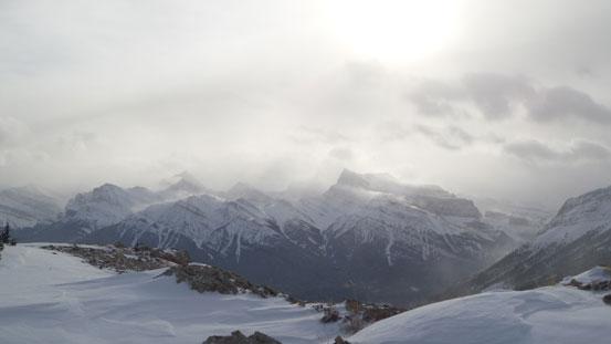 Siffleur Mountain, Mount Loudon and Mount Peskett