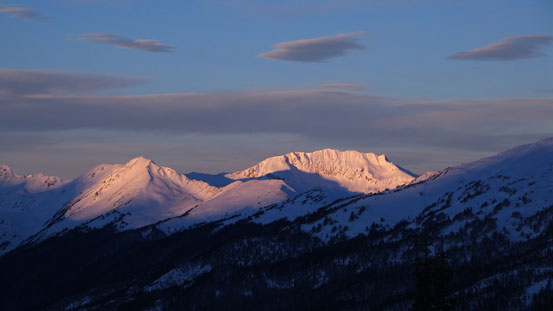 Unnamed peaks in the Cariboo Mountains