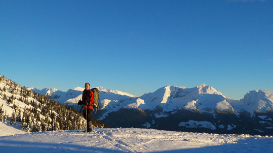 Ben with the Monashee Mountains behind