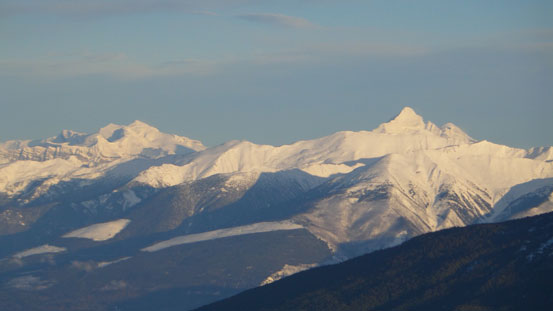 Mt. Longstaff and Whitehorn Mountain
