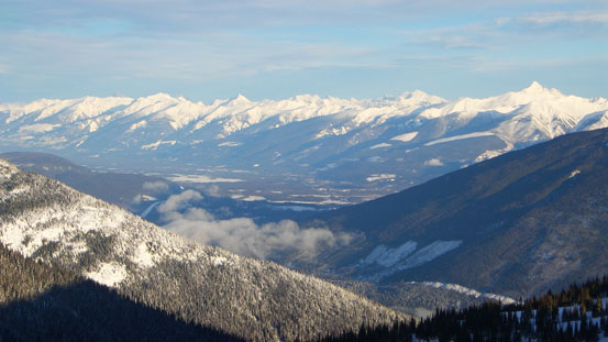 The distant Valemount valley area