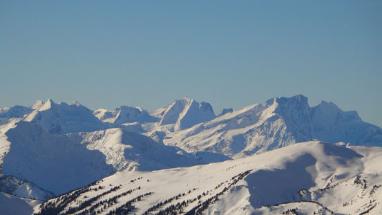 Cool peaks in the Selkirks. One of them is possible Mt. Carson