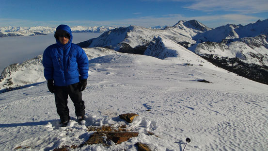 Me on the summit of Wiseman Peak