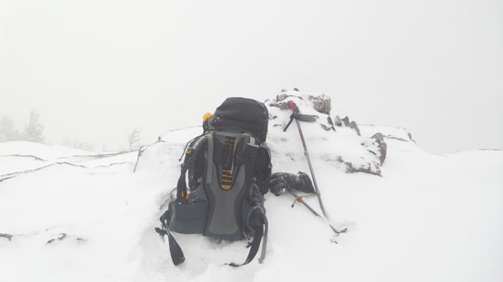 White-out on the summit