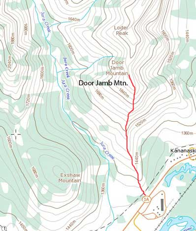 Door Jamb Mountain standard route