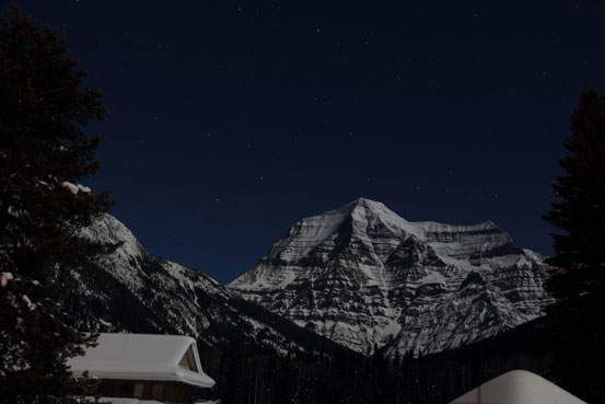 Mt. Robson at midnight. Photo by Ben Nearingburg