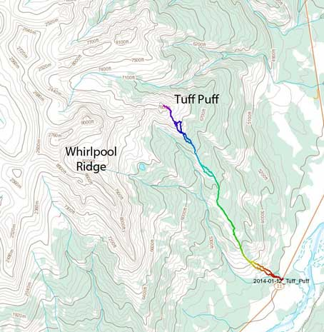 Tuff Puff standard hiking route