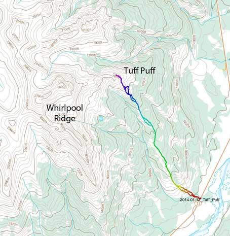 Tuff Puff standard hiking route