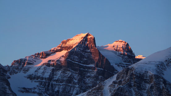 Alpenglow on Haddo and Aberdeen