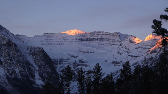 Alpenglow on Victoria