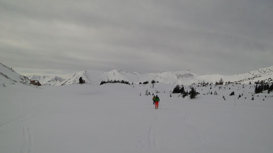 Looking back from Ptarmigan Lake