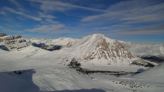 Fossil Mountain and Baker Lake (frozen)