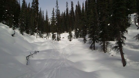 Here comes the only good section for skiing.