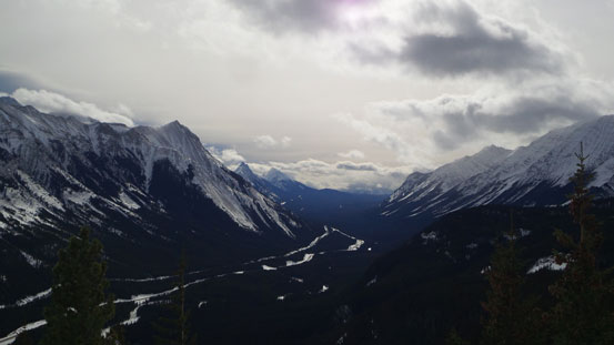 Looking south down Kananaskis Highway