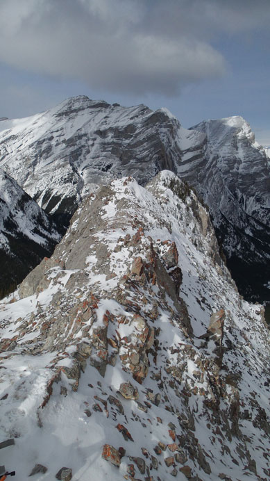 The north summit is only slightly lower, but not a straightforward traverse