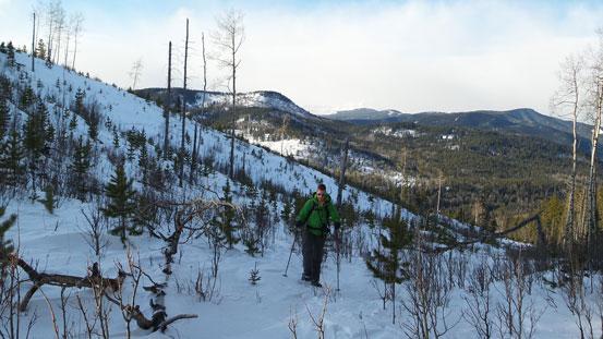 Easy snowshoeing terrain