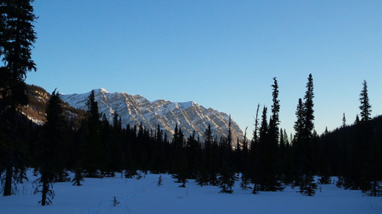 Looking back at Yellowhead Mountain