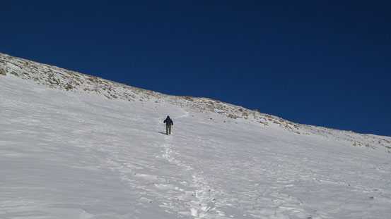 Descending the upper slopes