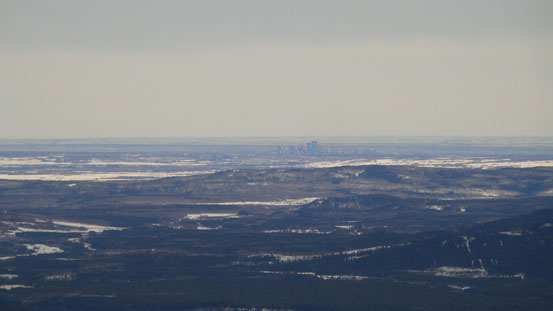 Can see Calgary from here!