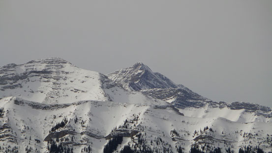 Fisher Peak rises behind Mt. Fullerton