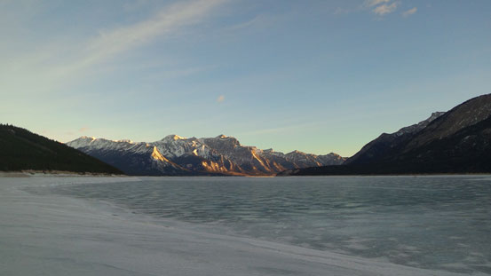 Down to Abraham Lake now