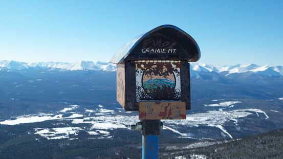 The summit mailbox. I didn't buy the Passport to the Peaks guidebook (which is $60).