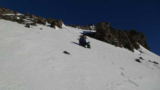 Grant descending snow