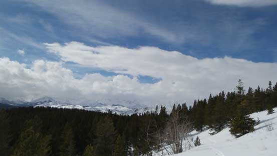 At the meantime, interesting cloud scenery looking towards the Continental Divide