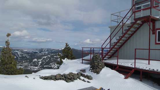 The lookout on the summit