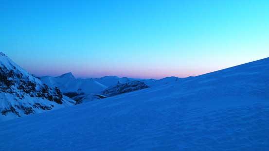 Morning colour over the Eastern horizon