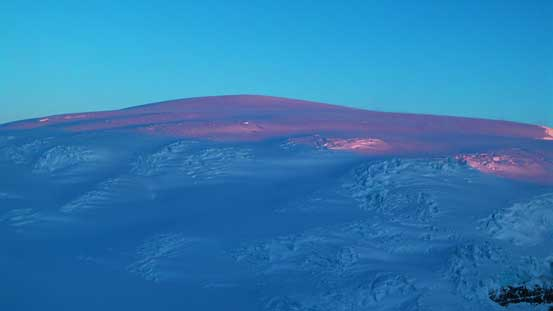 Snow Dome and the crevasses...