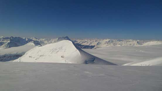 Splendid view from the second part of ridge traverse