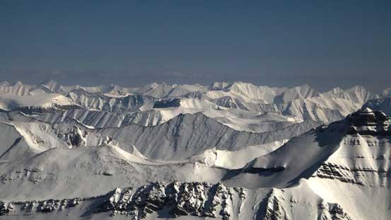 A sea of front-range peaks by Southern Jasper Park