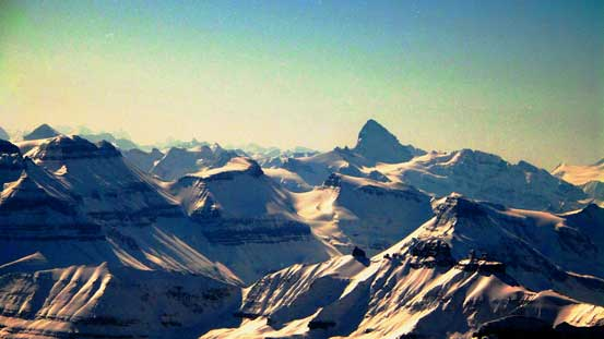 The mighty Mt. Forbes is the highest peak entirely in Banff N. Park