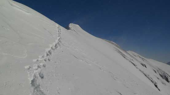 This photo shows the slope angle you have to traverse.