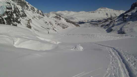 Ready to ski down the Ramp