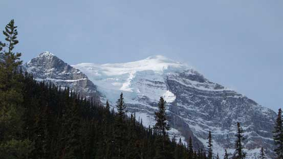 The glaciated Mt. Temple