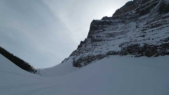 Looking ahead towards the second gully (steepest)