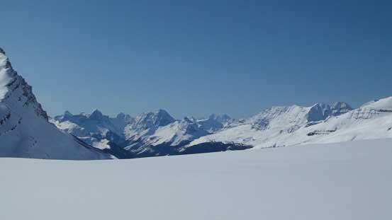 Great views of Yoho's giants. Goodsirs in the distance.