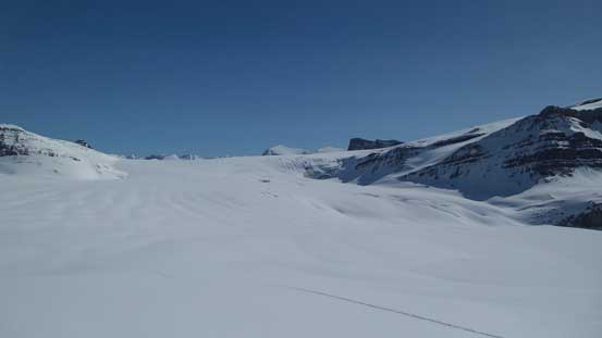 Looking back down at the Icefield