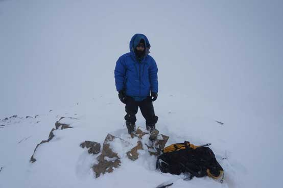 Me on the true summit of Mt. Olive. Photo by Ferenc Jacso