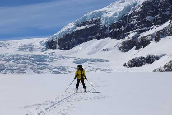 Me cruising down Athabasca Glacier. Photo by Ben N