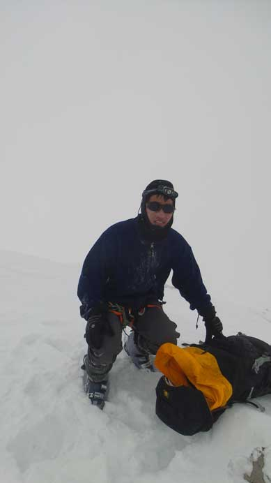 Me on the summit of Ayesha Peak
