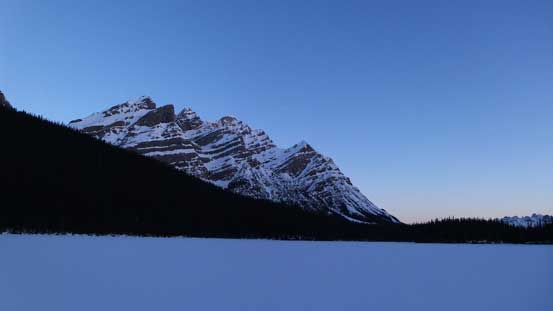 Mount Patterson from Peyto Lake early in the morning