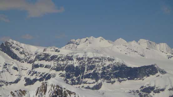 Peaks on Freshfield Icefield